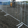 Crowd control barriers temporary fence