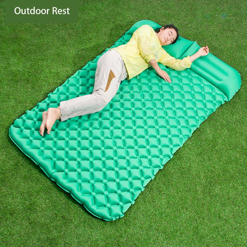 Lightweight Camping Rest  Inflatable TPU Fabric Mattress Outdoor Mattress