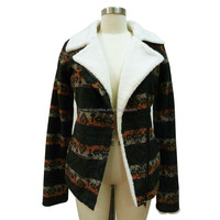 women's fashion winter warm coat hot style with vintage pattern in soft fabric