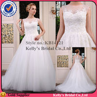 2014 The most popular on the show lace an beading bodice wedding gown