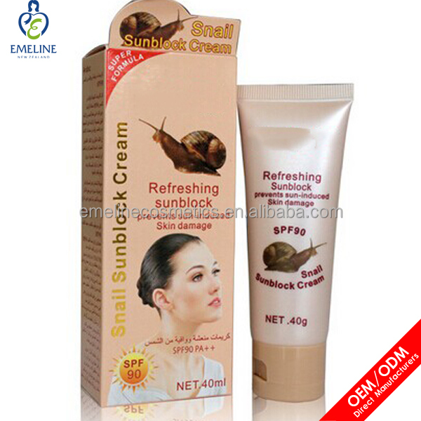 wholesale whitening snail uv sunblock cream