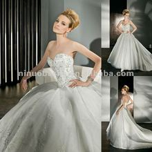 NY-2500 Sparkling Tulle Ball Gown with a Sweetheart neckline wedding dress