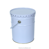20/18 liter metal paint bucket with flower shape lid for painting