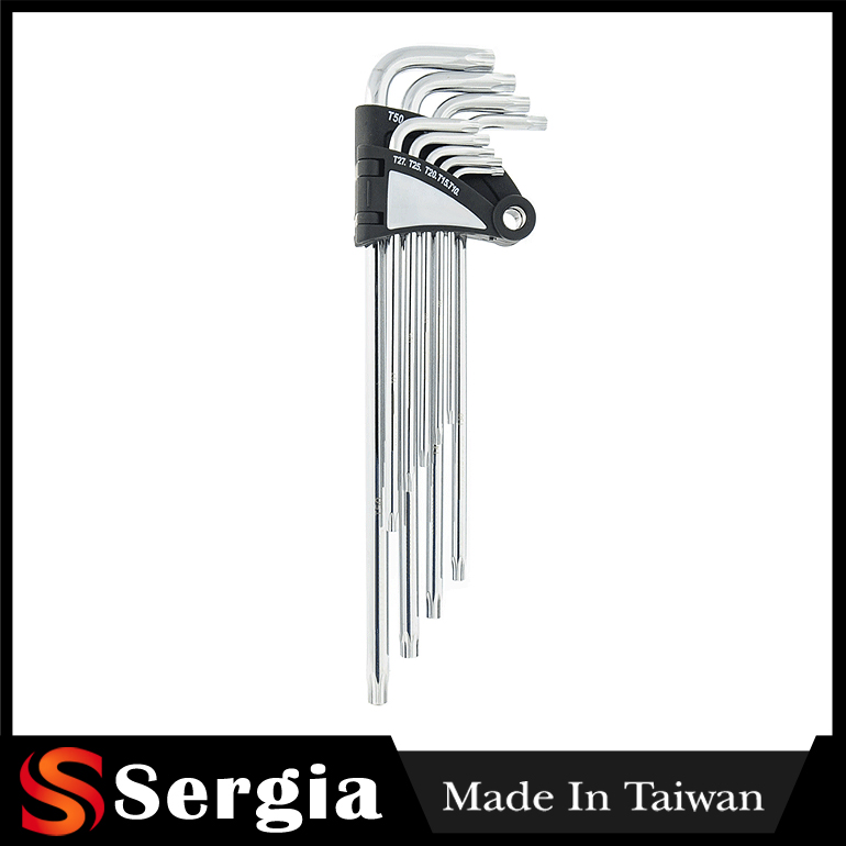 CRV Hex Key Made In Taiwan Products 9 Pcs Star Extra Long Hex Key Wrench