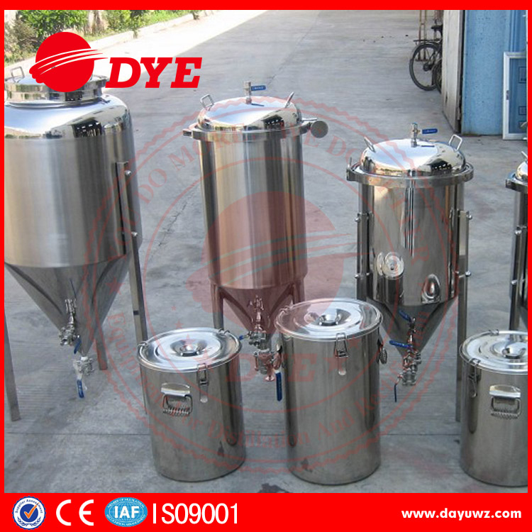 Stainless steel home brew conical fermenter, micro beer home fermentor, fermentation tank
