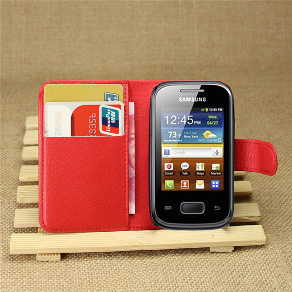 Hot selling leather case for Samsung Galaxy Pocket Neo S5310 Leather Mobile phone flip cover case for Galaxy Pocket Neo S5310