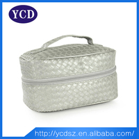 Wholesale fashionable pu leather cosmetic case for woman