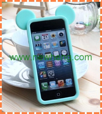 Hot sell Cute silicon Mobile Phone Case for iphone5s