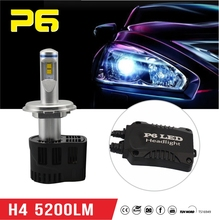 LED Sealed beam headlight for aftermarket auto car accessories h4 headlight retrofit P6 generation bulbs