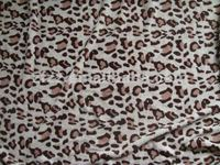 Leopard prined flannel fabric