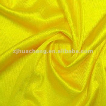 100% Polyester Plain Dyed Warp Satin Dazzle Tricot Fabric