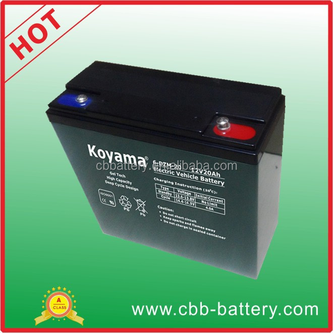 12V 20Ah lead acid battery E-bike battery 6-DZM-20 with CE/ISO certificate
