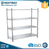 Heavybao Excellent Quality Stainless Steel Angled Supports Craft Shelf For Vegetable And Fruit