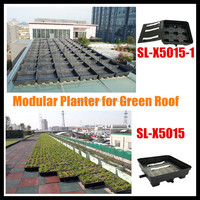 SL-X5015 plastic green roof planter large plastic trays