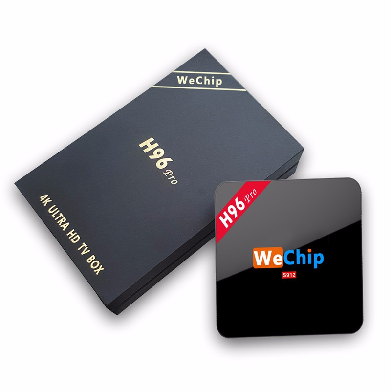 2016 Wechip H96 pro New s912 tv box AD player 17.0 Octa Core 4K 2G 16G Smart Box