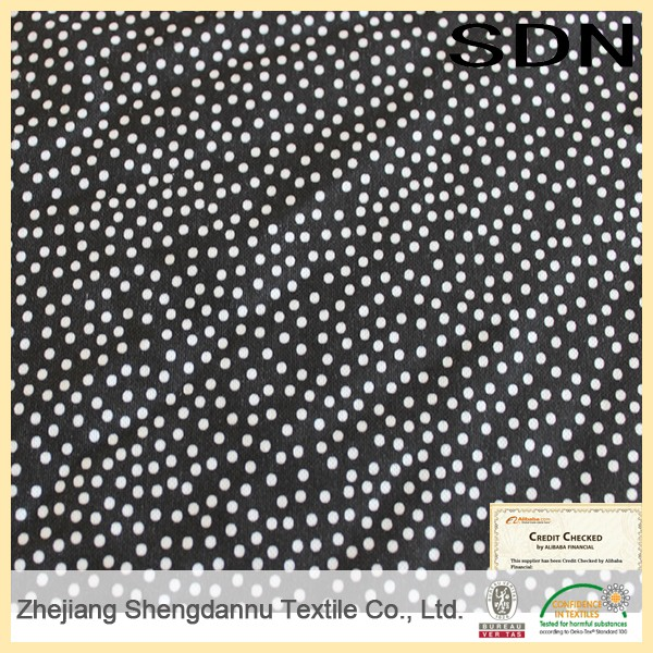 China wholesale market agents printed fabric satin polka dot