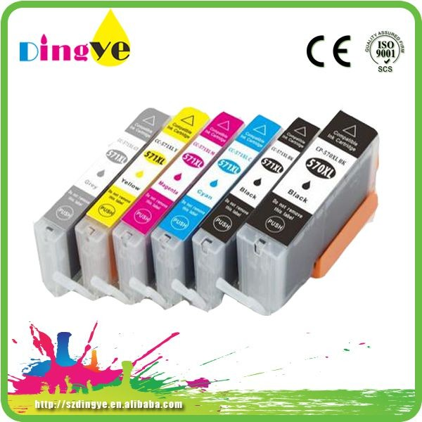 PGI-570 CLI-571 Cartridge With Auto Reset Chip For Canon Compatible Printer Ink Cartridge