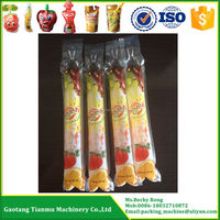 ice pop fruit juice plastic soft tube bag filling sealing packing machine
