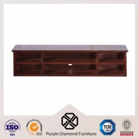 Wood walnut small bookshelf narrow bookcase