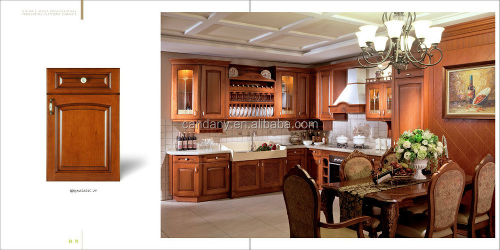 2015 new design natural comfortable modern kitchen cabinet