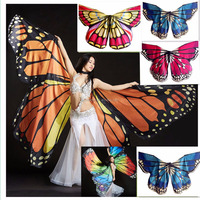 BestDance Butterfly Wings Belly Dance Costume 360 Isis Wing Egyptian Dance Wear
