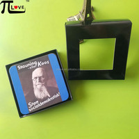 Hot selling product Student graduation souvenir professor avatar printing mdf drink beer coaster