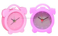 Mini silicon twin bell table alarm clock S1102 meet CE and Rohs best for home decor