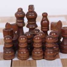 2018 new design Wooden Chess set pieces board Handheld puzzle game factory outlet