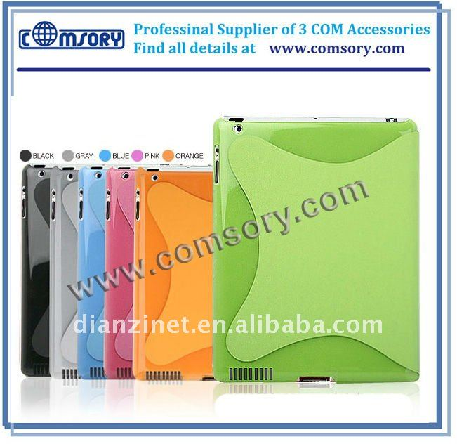 2011 HOT For iPad 2 Smart cover with case for iPad 2 hard case cover for iPad 2 polycarbonate case for iPad2