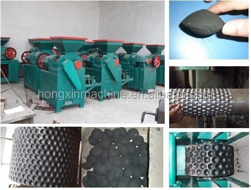 High efficiency coal charcoal sawdust briquette making machine