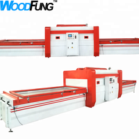 vacuum wood working laminate machine for kitchen cabinet panel furniture