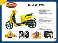 Quest 125 Cheap automatic scooter 125cc,yellow vespa for sale,used gas scooter for sale