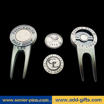 sonier-pins Bulk cheap golf divot tool/repair tool with ball marker
