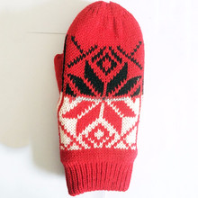 Fashion Cheap Winter Jacquard 100% Acrylic Mittens for Adults