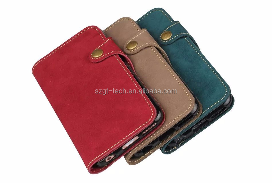 Best Selling leather credit card wallet case for iPhone 7 plus, for iPhone 7 plus leather case, for new iPhone 7 plus case