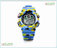 Top selling 1ATM life fashion camouflage color sport watch with backlight
