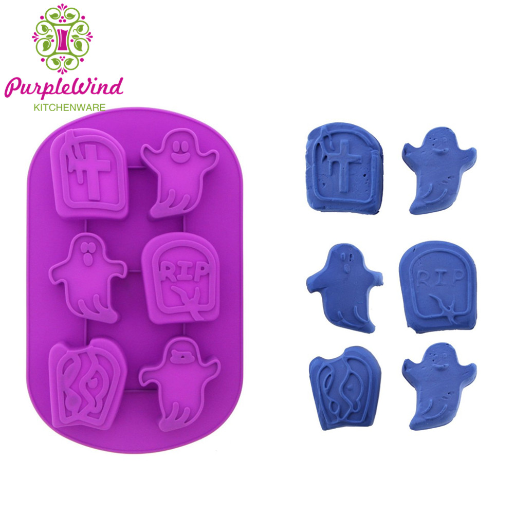 Birthday party decorations Halloween silicone cake molds