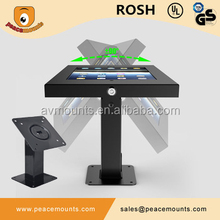 Anti theft Cold Rolled Steel Commercial Use 360 Degree Swivel Secure Lockable Tablet Display Stand