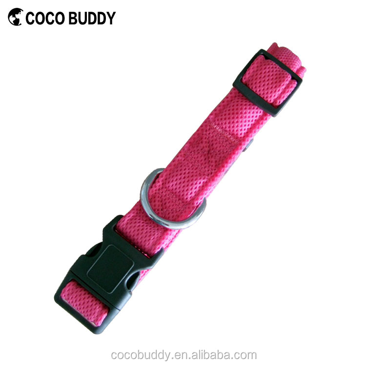 Pet Collars & Leashes Type and Dogs Application Plastic Release Buckle Soft Mesh Dog Collars