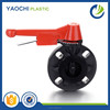 wholesale alibaba china online shopping red ABS handle pvc butterfly valve