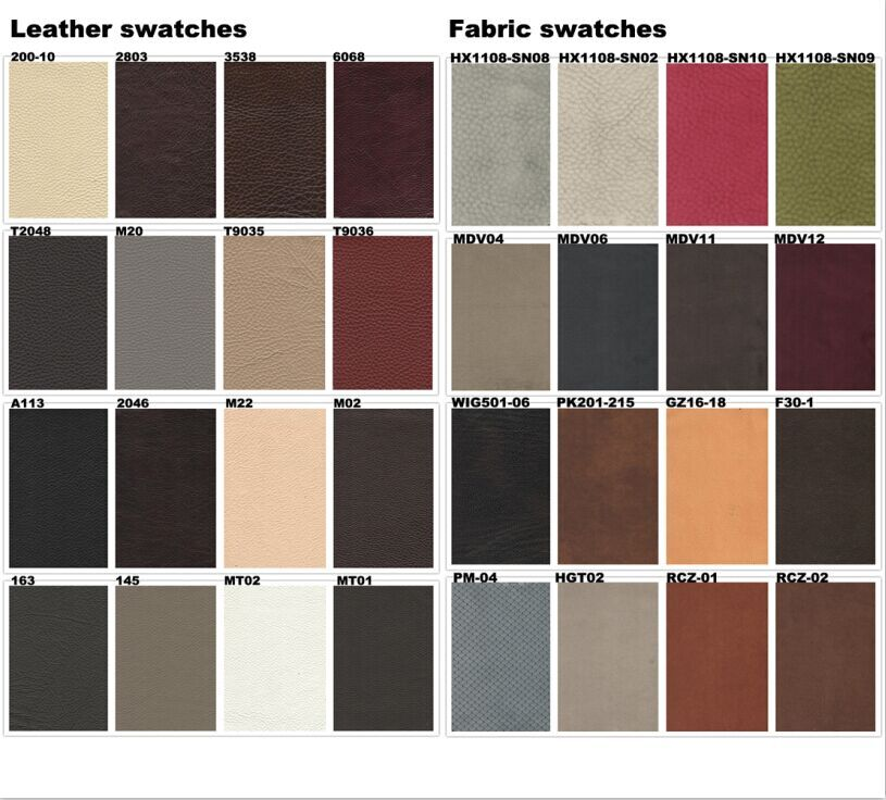 fabrtic and leather swatch
