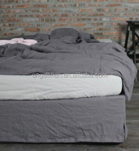 2015 Newest 100% linen gray bed sheets with stone washed for home /hotel/wholesale