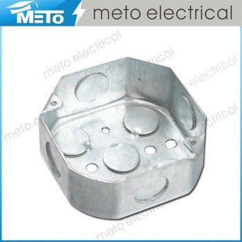 China supplier electrical round weatherproof junction steel switch box price