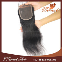 18 inch 4*4 Black Straight Lace Closure Thin Skin
