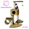 Sturdy Black Big Cat Condo Furniture Cat Scratch Post Play House