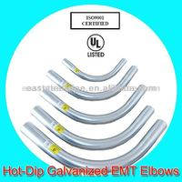 hot dip galvanized bend of emt pipe