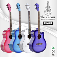 Custom cutaway acoustic guitar for student wholesale price (HS-4018)