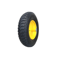 Solid forklift wheel 4.00-8 small rubber wheel