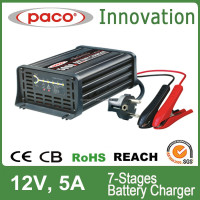 7-Stage Automatic 12 Volt Portable Battery Charger 5Amp