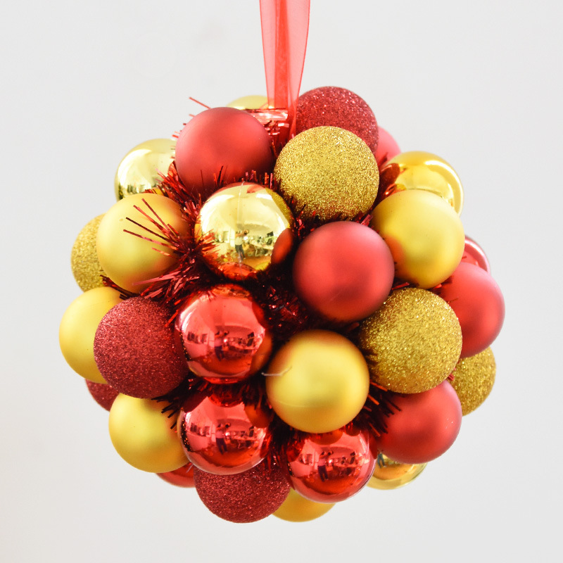 20CM Red and Gold Plastic Christmas Ball for Home Decoration